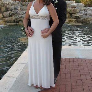 Off White beaded formal dress